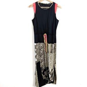 Elie Tahari Neon Snake Print Maxi Dress